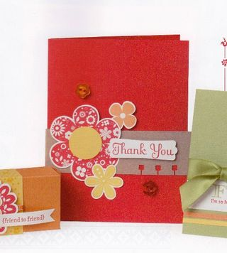 Red flower card, page 106 in the SU Catalog