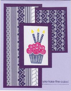 Purple cupcake bday kristie