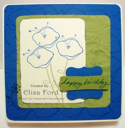 Awash With Flowers square card