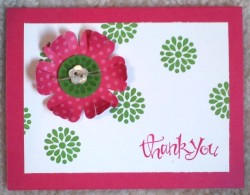 Fun & Flowery Thank You Card