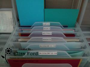 Card Stock Card Base Storage