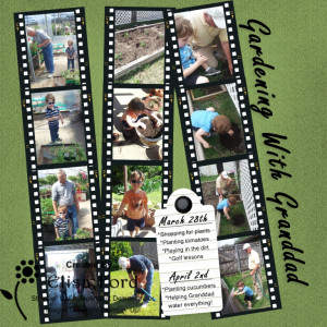 Gardening with Granddad MDS scrapbook page