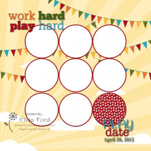 MDS digital scrapbook page play date