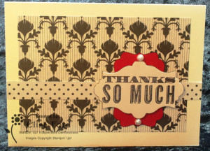 Modern Medley Thank You Card