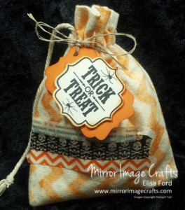 Simple Halloween Gift Bag - Visit http://www.mirrorimagecrafts.com for details and more projects!