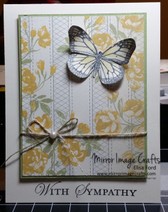 Best of Butterflies afternoon picnic sympathy card - Visit http://www.mirrorimagecrafts.com for details and more projects!