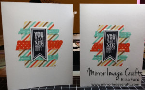 Retro Fresh Washi cards - Visit http://www.mirrorimagecrafts.com for details and more projects!