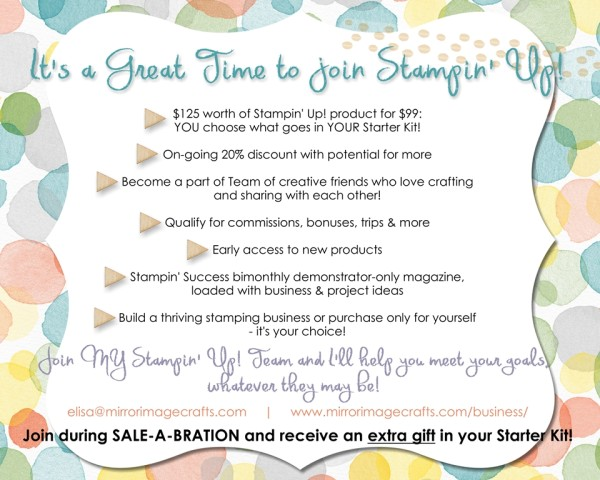 Great time to join Stampin' Up!